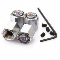 alpina valve boxes - Locking ALPINA Anti Theft Dust Cap Tire valve caps With Car Logo Badges Emblems ALPINA With Retail Box YX