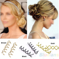 spiral hair pin - 10 set Spiral Spin Screw Pin Hair Clip Twist Barrette Gold Brown Black OH1