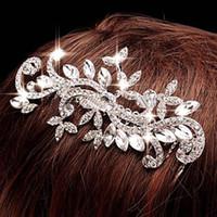 Accesorios Señora principal nupcial 2015 pinzas de pelo de la joyería nupcial Barrettes Tiaras Envío Gratis Brillante Cristal Perlado mujeres pelo de la boda joyería