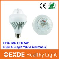 Wholesale RGB LED Bulbs Lighting Entertainment Christmas Lamp SMD W Lighting V V E27 W RGB Night Lights Color Changing Rotating Hot oexde