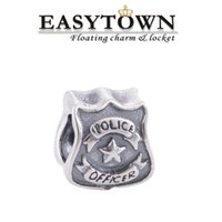 Wholesale 2016 silver police officer new charm beads fit European pandora Bracelet Bangle for DIY jewelry