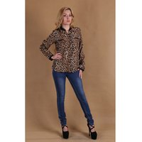 Cheap Women Sexy Leopard Shirt Best Chiffon Shirt Casual Blouse Tops
