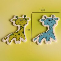 Wholesale 2015 Fashion cm baby decoration Craft Scrapbooking Accessories wooden giraffe shaped for baby shower