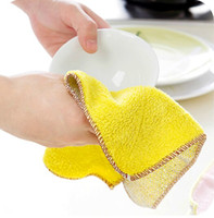 Wholesale filigree sided plush super absorbent dish cloth super decontamination wipes lint nonstick oil