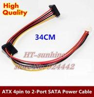ata controller - 5PCS ATX Motherboard pin to Port Serial ATA SATA Hard Drive Adapter Power Cable for Lenovo IPC Tax Controller order lt no track