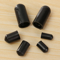 Wholesale 3 mm Kite Accessories Black Rubber End Caps For Quad Line Stunt Kites Fixed Parts Kite Connector Tools