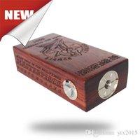 Madera Cherry Bomber Box Mod Vape Evod de madera APC v2 Mecánica Box Mods Fit 18650 batería perfecta para el tanque de Artic