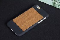 attached case - 2015 New iPhone6S grainy mobile phone shell Apple generations stylish protective cover attached two sided matte leather phone sets