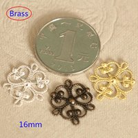 filigree findings - 80 Small Ornate Raw Brass Stamping Connector Jewelry Finding Embellishment mm Filigree Charms Connectors Jewelry Supplies