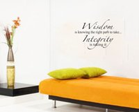 Cheap Wisdom Is Knowing The Right Path To Take Integrity Is Taking It living room decoration wall art decals quote murals