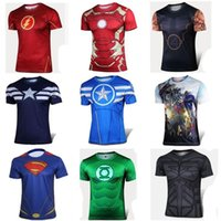 Wholesale PrettyBaby The Avengers t shirt men superhero Batman Jersey shirt sports quick dry fitness compression drying T shirt D girly men