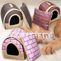 Wholesale New Arrivel Soft Pet Igloo Dog Cat Bed House Kennel Doggy Cushion Basket Various Colors