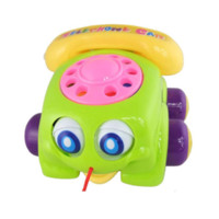 bell telephones - Educational toys rope telephone bell baby toy telephone ringing telephone call with a double lovely big eyes