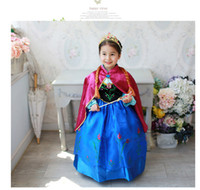 TuTu Spring / Autumn A-Line 2014 new cosplay Frozen dress stage costume Anna dress, girls dresses with red cloak, Anna kids child baby clothing