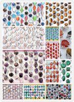 amethyst cat - Rings Colourful Natural Cat Eye Tiger eye Amethyst Shell Truqoise Gemstone Stone Silver Tone Women s Rings New Jewelry lo