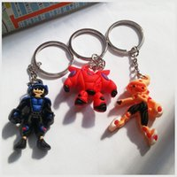 Cheap 3D Super Big Hero 6 Key Ring Baymax Robot Baymax White Fat Doll 3D Stereo Silicone Key Ring Pendant Ideal Gifts for Kids 4cm 2105003
