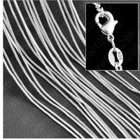 Wholesale hot sale mm S925 silver box chain Pendant chain accessories Unisex Necklace Charms Sterling Silver Ladys Chain Jewelry inch