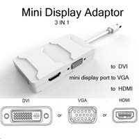 displayport - Multi function in Mini Displayport DP cables to DVI HDMI VGA Cable Adapter Display port for Macbook Pro Air PC
