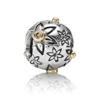 bead heart pattern - Golden Circle Stars Pattern Silver Charm European Bead Fit diy Snake Chain Bracelets Women Jewelry