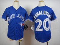 apparel for kids - Youth Donaldson Blue Jays Baseball Jersey Stitched Baseball Jerseys for Kids Sports Shirts All Teams Outdoor Apparel Baseball Uniform