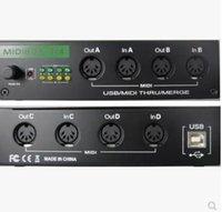 usb controller midi - Interface MIDI USB in out USB MIDI X4 splitter controller Music Box into with MIDI Merge function
