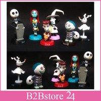 Wholesale 6pcs box The Nightmare Before Christmas Skeleton Jack PVC Action Figure Toys Best Christmas Gift