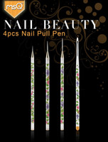 Wholesale brush set Pull Pen blue and white porcelain Dotting Painting Synthetic hair Carving Nail art decorations uv gel colors Brushes
