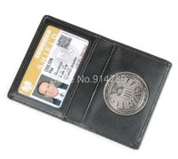 Wholesale THE AVENGERS AGENTS OF S H L E L D SHIELD BADGE IN LEATHER WALLET OR HOLDER