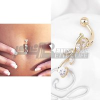 Wholesale 1pcs fashion Sexy Body Jewelry Navel Dangle Belly Barbell Button Bar Ring Body piercing Art Belly Button Ring Piercing