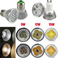 Wholesale High Power Dimmable GU MR16 E27 W W W W LED Spotlight led lighting led bulbs led lamp Indoor soft light NO radiation Christmas