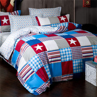 american flag bedding - Freeshipping Brand New Bed Set American Flag Bedding Duvet Cover Set of Plaids without Comforter Cotton Queen