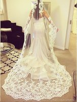 beautiful veils - 2015 Lace M Long Luxurious Beautiful Bridal Veils Vintage Wedding Veils Elegant Bridal Accessories Stunning Wedding Accessories