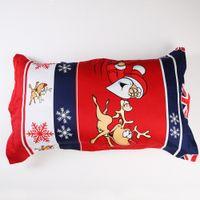 Cheap Christmas Pillow Case Santa Claus Deer Pillow Cover Bedding Cotton Pillowslip US