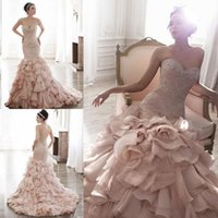 Cheap Trumpet/Mermaid Wedding Dresses Best Reference Images 2015 Spring Summer luxury crystal beads 2015