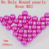 Wholesale No Hole mm Many Colors To Choose No Hole Round Pearls Imitation Pearls Craft Art Beads Nail Art Decorate DIY