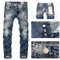 designer casual jeans - jeans for men italy fashion designer mens jeans brand ripped jeans for men robin jeans casual business pants size H964