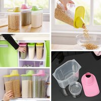 bean container - 1 L Plastic Kitchen Food Cereal Grain Bean Rice Storage Container w Lid Box Case