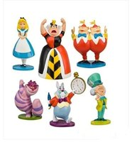 alice pvc - Classic MINI ALICE IN WONDERLAND PVC Cake Toppers Figure Toy set A