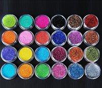 Wholesale 2015 Beautiful set Colors Metal Shiny Nail Art Tool Kit Acrylic UV Glitter Powder Dust Stamp factory price