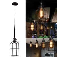 Wholesale Edison Retro Vintage Antique Practical Decor Ceiling Drop Pendant Light Metal Column Chandelier Lampshade