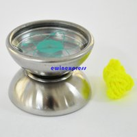 Wholesale 100pcs Professional Stainless Steel Magic YoYo Ball toys earing String Trick Yo Yo Toy christmas party gifts for Kids Children