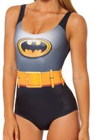 One Pieces batman swim suit - Sexy Women Bikini D Digital print beach swimwear women Batman Cape Suit swimsuit Bodysuit BATMAN CAPE one piece swimming suit