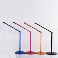 Wholesale 2015 New Simple LED Table Lamp Toughened Glass Base USB AC V V Protect Eyes Lamp