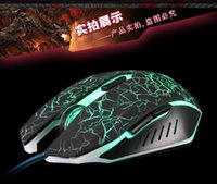 Cheap best Adjustable 2400DPI Optical USB Wired Gaming Mouse Mice change Colors LED for PC Laptop Computer notebook vs wireless mouse DHL 130002