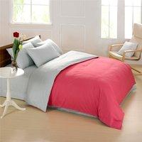 bedsheets designs - designs Elegant natural cotton solid color reversible blue and white bedding set queen bedsheets bedspread plain linen