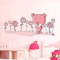 bear nature - retail PINK TEDDY BEAR Wall Stickers art Mural Children s Kids Nursery Baby Bedroom