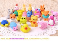 Wholesale Lovely Cartoon Animals Pencil Eraser Cute Rubber Correction Erasers Student Stationery School Supplies Kids Gift Promotion
