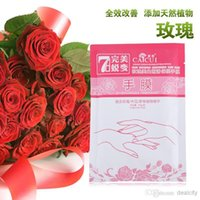 Wholesale Rose Whitening Moisturizing Hand Mask Hand Care Mask Whitening Moisturizing Gloves File Membrane Days A Week Whitening Hands g