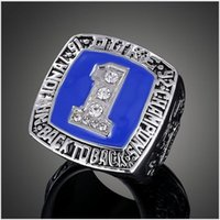 basketball association - Silver Tone Clear American University Basketball Association Duke College National champion Ring Mike Krzyzewski Championship rings