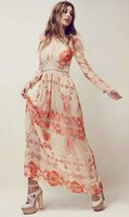 Wholesale Vintage Print Women Maxi Dress Sexy Cut Out Beach Celebrity Dresses